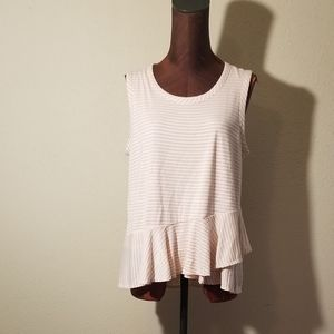 3for$20 - punk/white ruffled tank top